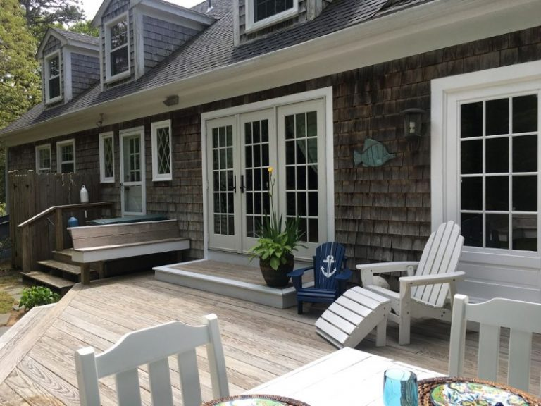 Chatham deck and french doors