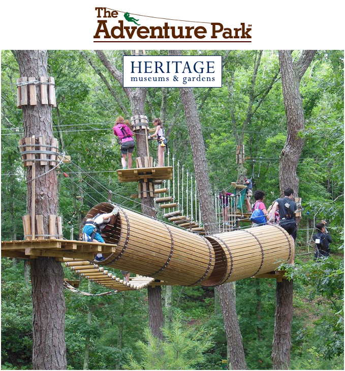 The Adventure Park At Heritage Gardens In Sandwich, MA